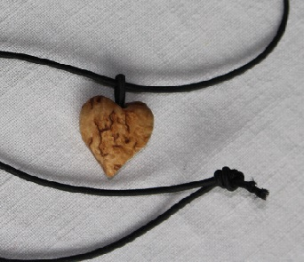 Curly Birch Heart Necklace