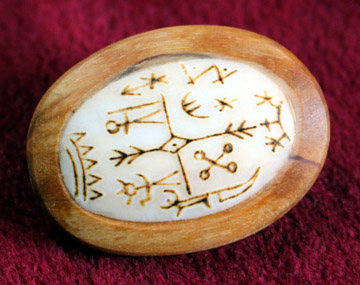 Shaman Drum Brooch