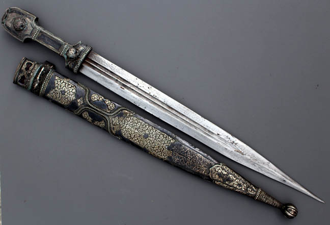 Antique Cossack Silver Dagger 33/47