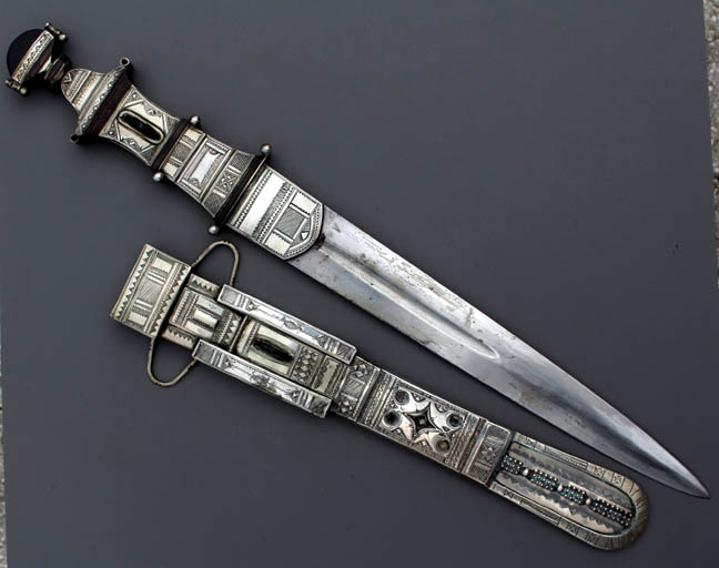 SOLD - Antique Tuareg Silver Dagger - SOLD