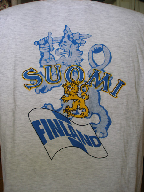 Suomi Finland Lion & Flag T-shirt