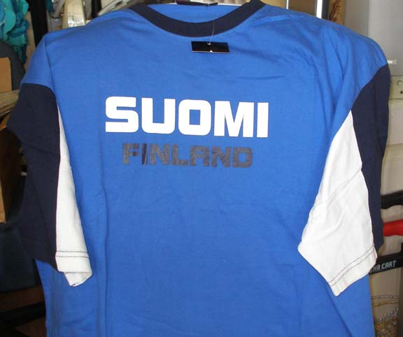 Suomi Blue T-shirt with 2 tone sleeve