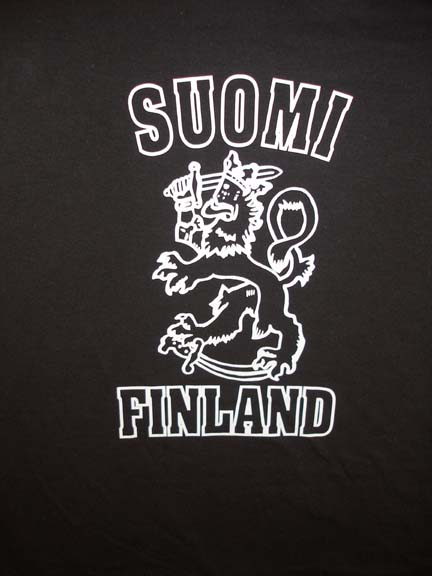 Finnish Lion black T-shirt