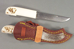Small Scrimshawed Bone Handle Puukko